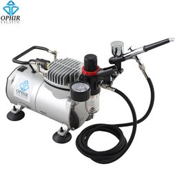 $enCountryForm.capitalKeyWord NZ - OPHIR Dual-Action Airbrush Kit with 110V 220V Air Compressor Filter Holder for Body Paint Airbrushing Hobby Makeup Set_AC089+004