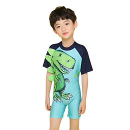 $enCountryForm.capitalKeyWord UK - Child Boys Girls Bikini Bathing Long Sleeve High Elasticity Swimwear Beach Wear Diving Swimming Cartoon Print Swimsuit 37xc jj