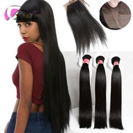 $enCountryForm.capitalKeyWord NZ - xblhair straight bundles with closure brazilian virgin human hair extension with one 4by4 silk base closure
