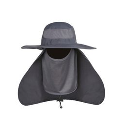 e6f89d48000 Outdoor Men Women Large Round Brim Sun Block Quick Drying Fishing Hats  Summer Sun Cap For Travel Mountain Climbing Bucket Hat