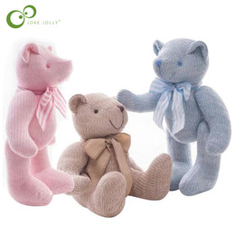 movable doll joints 2019 - Creative Wool Knitted Teddy Bear Doll Joint Movable Plush Toy Birthday Christmas New Year Gift Toys for Children Girl Bo