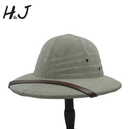 7a3e33cf74763 Safari hatS men online shopping - 100 Toquilla Straw Helmet Pith Bucket Hats  For Men Vietnam