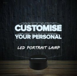 Custom Design Gifts Canada - Exclusive Elegant Custom Design Portrait LED Lamp Night Light 7 RGB Lights USB Powered Touch Button Gift Box Dropshipping