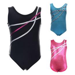 ff7686fcd8707 Kids Child Girl Dance Leotard Stretch Bodysuit Gym Ballet Training Dress  Clothes for 3-12 Years old girls