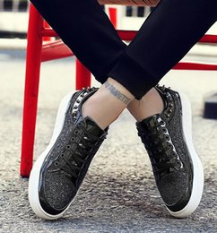 Male Shoes For Sale NZ - 2017 Hot sales Fashion Men Top British Style rivet Shoes Men Causal Luxury Shoes silver Gold Black Bottom rubber Shoes for Male