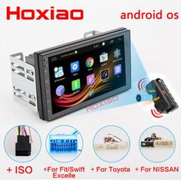 "Wholesale Gps Radio Australia - 2 Din Android 7.0 Car Radio Universal GPS Navigation Bluetooth WiFi 1024*600 Autoradio Stereo FM 7"" Audio camera car DVD Player"