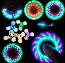Figet spinners online shopping - New Light Plating Fidget Spinner Led Stress Hand Spinners Glow In The Dark Figet Spiner Cube EDC Anti stress Finger Spinner
