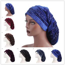 $enCountryForm.capitalKeyWord NZ - New Velvet Cow Shutters Headband Starry Drill Pile Heap Cap Pack Hair Long Hat Muslim Head Scarf Popular Women Hair Accessories