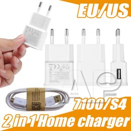 Ericsson Car Kit Canada - 1A 2A Wall Chargers N7100 Home Travel Adpater Micro USB Kits 2 in 1 US EU Version Plug USB Cable Car Charger