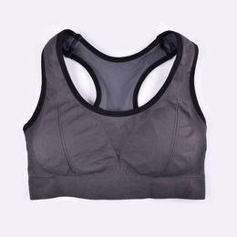 b48c7e0808ff6f THUNSHION Sports Crop Top Gym Wear Sexy Women Lingerie Full Cup Padded Bra  Seamless Underwear