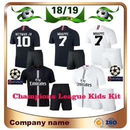 3a7d6b4ff Logo uniforms online shopping - LOGO MBAPPE Kids kit Champions League  Soccer Jersey Home black NEYMAR