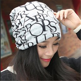 $enCountryForm.capitalKeyWord NZ - Autumn Winter Casual Brand Hats for Women Plaid Lady Caps Letter Printed Pile Cap Female Beanies Wholesale and Retail KH852421