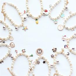 Diy springs online shopping - Pearl Originality Necklace Manual Cat Dog Horse Collar Pendant DIY Ornaments Tie Adjustable Party Pet Supplies kc bb