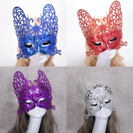 $enCountryForm.capitalKeyWord Australia - Women Fashion Gold Powder Butterfly Shape Masquerade Masks Halloween Valentine's Day Party Half Face Carnival Masks Party Show Mask