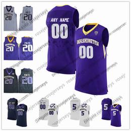 College Basketball Jersey Xl Canada - Custom Washington Huskies College Basketball white black purple Stitched Any Name Any Number 20 Fultz 1 David Crisp Markelle NCAA Jerseys