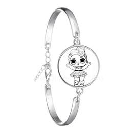 8e057c31d6f9 Dolls Bracelet Cute Baby Glitter Princess Dress Dolls Glass Dome Bangle  Anime For Kid s Birthday Gift