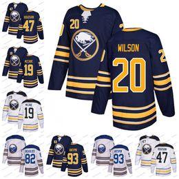 3c7061411 2019 Buffalo Sabres 20 Scott Wilson 90 Ryan O Reilly 15 Jack Eichel 23 Sam  Reinhart 21 Kyle Okposo Hockey Jerseys Men Women Youth