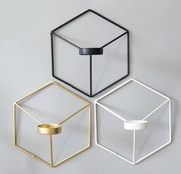 $enCountryForm.capitalKeyWord NZ - metal candle holder Visual Touch Nordic Style 3D Geometric Candlestick Metal Wall Candle Holder Sconce Matching Small Tealight Home Ornament