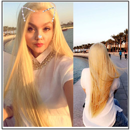$enCountryForm.capitalKeyWord Australia - 150% Density 613 Blonde Full Lace Human Hair Wigs With Baby Hair Straight Brazilian Virgin Lace Wigs Pre Plucked