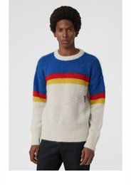 Discount british clothing for men - Luxury Brand British women casual striped sweater men brand clothing Pullover men fashion Designer sweaters for men 6112