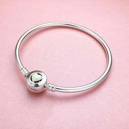 925 Sterling Silver White Heart enamel BRACELET Original box For Pandora Charms Silver bracelet Women Bangle Women's Bracelets Jewelry on Sale