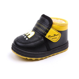 e4ed9c2c98ec KINE PANDA Winter Warm Toddler Baby Boy Boots with Plush Newborn Boys Baby  Boots Little Kids Shoes Soft Anti-slide M Mark 0-2Y