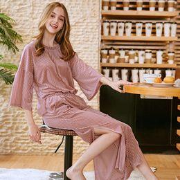 5000dcb98 Women Nightwear Brands Australia - PS0246 2018 New Brand Pajamas Women Sexy  Sleepwear Home Suits Autumn