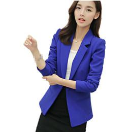 d878d22d7bb B2546 2018 весна и осень новый стиль Женская мода простой с длинным рукавом  пальто пиджаки короткий стиль дешевые Оптовая