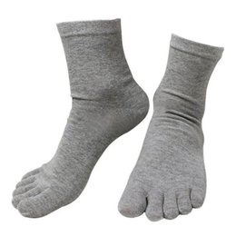 1 Pair New Five Finger Pure Cotton Sock Autumn Winter Warm Unisx Style Men Women 6 Colors Accessories Men's Socks