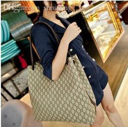 All'ingrosso-2015 moda classica plaid stampa borsa secchiello grande capacità in pelle PU donne borse a spalla progettista di marca in Offerta