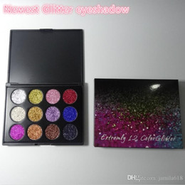High Pigment Eyeshadow Palettes NZ - Wholesale Cosmetic High Pigment waterproof Makeup eye shadow 12 color Glitter Eyeshadow Palette Shine Glitter Make Up eyeshadows Palettes