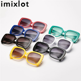 $enCountryForm.capitalKeyWord NZ - Imixlot Retro Personality Sunglasses Women Loves Oversized Square Frame Eyewear 2018 New Trendy Summer Glasses