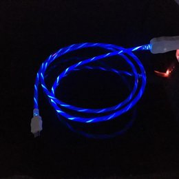Light up charger online shopping - Flowing LED Visible Flashing Micro USB Charging Charger Cable M FT Data Sync Type C Light Up Cord Lead for Samsung S7 S6 s8 edge HTC