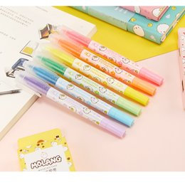 office boxes 2018 - 36 pcs Lot Cute molang color highlighter marker pen Two side marker Stationery office School supplies papelaria escolar