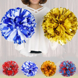 Shop bulk flower balls uk bulk flower balls free delivery to uk bulk 23colors pvc 30cm with double rings sport competition cheerleading pom poms flower ball wedding decoration centerpeices party favor mightylinksfo