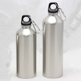 drinking bottles 2019 - 750ML or 500ML 2018 New Sliver Water Stainless Steel Double Vacuum Insulated Bottle Sport Drinking Water Bottles with Li