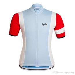 Bicycle Riding Shirts NZ - Cycling Clothing RAPHA Cycling Jersey Short Sleeve Jersey Men Summer Bicycle Bike Jersey Road Mountain Riding Mtb shirt Male F2708