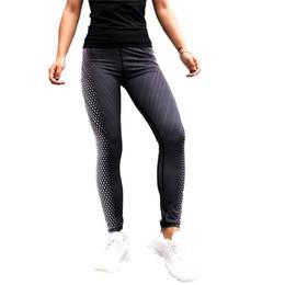 Mix Yoga Pants NZ - Black & White Digital Printing Sports Yoga Pants Leggings Fitness Pants