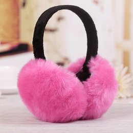 $enCountryForm.capitalKeyWord Canada - New Winter Women Men Earmuffs Lovers Ear Warmer Imitation Rabbit Plush Plain Teenage Earmuffs Student Girl Ear Muffs