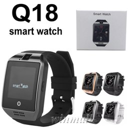 Gsm messaGes online shopping - 100pcs Smart Watch Phone Q18 Support SIM TF Card GSM Bluetooth Smartwatch With Camera for IOS Android Phone