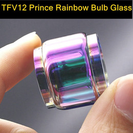 online shopping for Smok TFV12 Prince replacement Rainbow bulb glass tank tube fat bot glass vapor ecig atomizer accessory glass tube