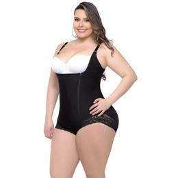 48e9823cf0 Plus size Body Shaper Underwear Women Waist Trainer Corsets Zipper Tummy  Control Butt Lifter Shapewear Bodysuit