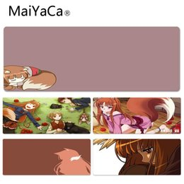 Wholesale MaiYaCa New Holo Spice And Wolf DIY Lockedge mousepad Gamer Play Mats Customization Supported Decorate You Desk