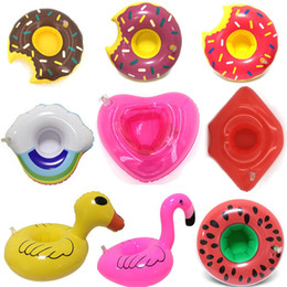 AnimAl swimming inflAtAble floAt online shopping - Float Drink Cup air Holder Pool Party Beverage float Toys Inflatable Unicorn Swim Ring Inflatable cup holder