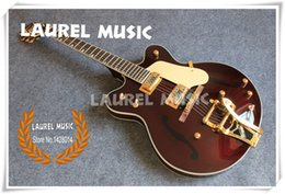 Discount paint electric guitar - Hot Selling China G6122-1962 Electric Guitar Chet Atkins Country Gentleman Brown Finish With Painted F Holes Free Shippi