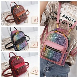 14ed1132d1ed Girls colleGe baGs leather online shopping - Sequin PU Leather Backpacks  Women Girl Bling Zipper Mini