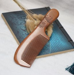 Discount ebony - Wooden Comb Natural Health ebony Wood Anti-static Health Care Beard Comb Pocket Combs Hairbrush Massager Hair Styling To