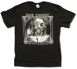 metal gong 2019 - ROB ZOMBIE - GING GANG GONG BLACK T-SHIRT NEW WHITE METAL OFFICIAL ADULT Classic Quality High t-shirt discount metal gon