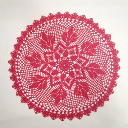 cotton rounds Australia - Large Coral Doily, Crochet Lace Doily, Round Cotton Doily, Crochet Centerpiece, Lace Tablecloth, Table Topper, 17 inches