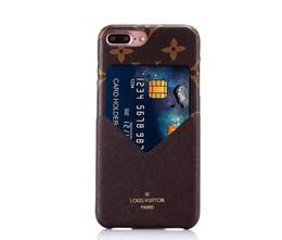 Custodia per cellulare in pelle con marchio Famous Fashion per iPhone6 6S 7 7plus Cover PC per iPhone 8 8plus